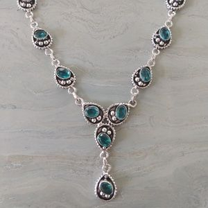 Nice apatite necklace stamped 925